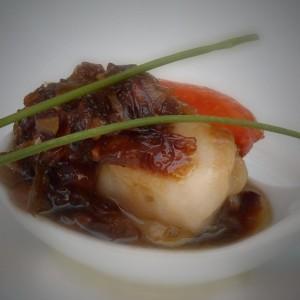Zamburiñas con salsa de soja