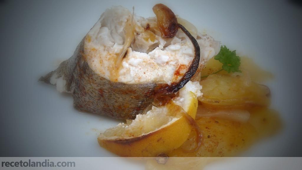 Receta de merluza al horno recetolandia for Merluza al horno facil