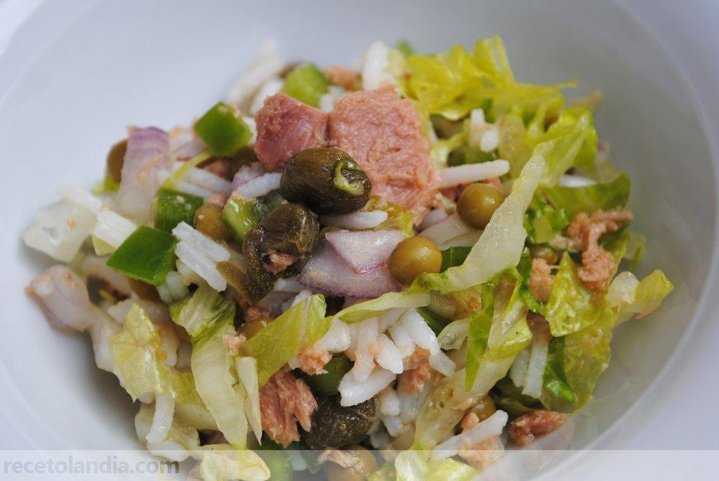 Receta de ensalada de arroz r pida recetolandia - Ensalada de arroz light ...