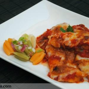 Pollo con tomate y mozzarella