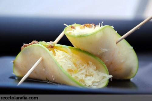 Rollitos de manzana con queso