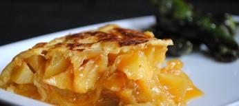 Tortilla de patatas de cebolla caramelizada