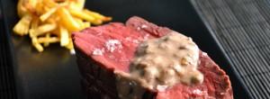 Solomillo al horno con salsa de La Peral