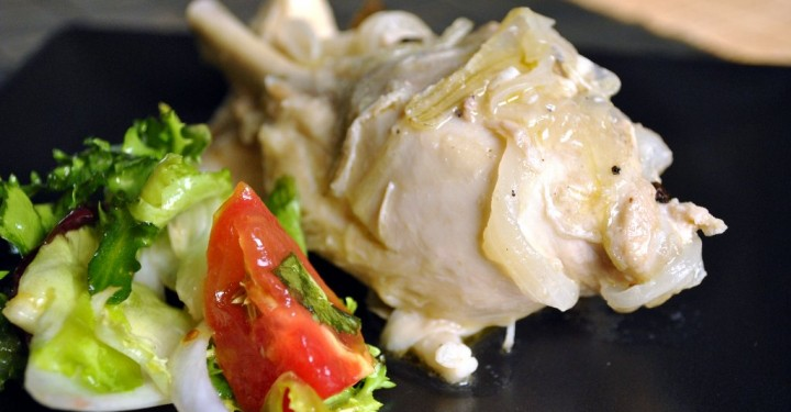 Pollo a la vinagrosa