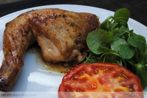 Pollo asado al pesto