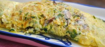 Tortilla de anchoas o tortilla de boquerones