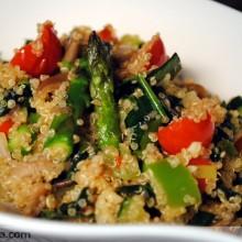 Quinoa con verduras y salsa de soja