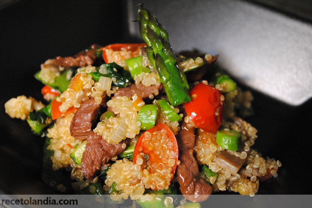 Quinoa con carne